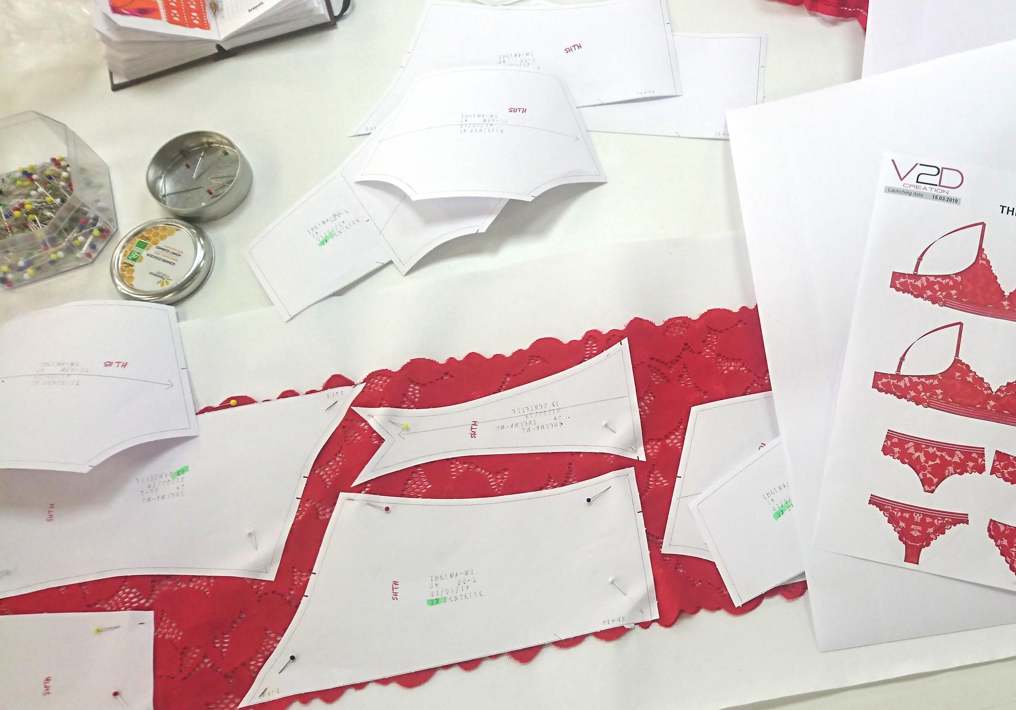 Atelier de création de sous-vêtements pour femmes France