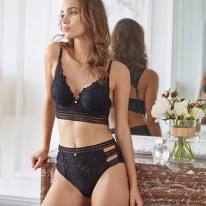 Thelma black high-waisted panties - Morgan lingerie - Lace