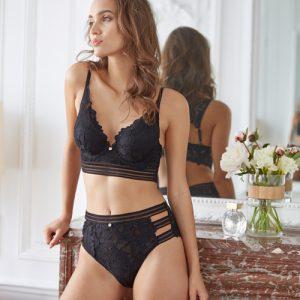 Culotte haute thelma noir - Morgan lingerie - Dentelle