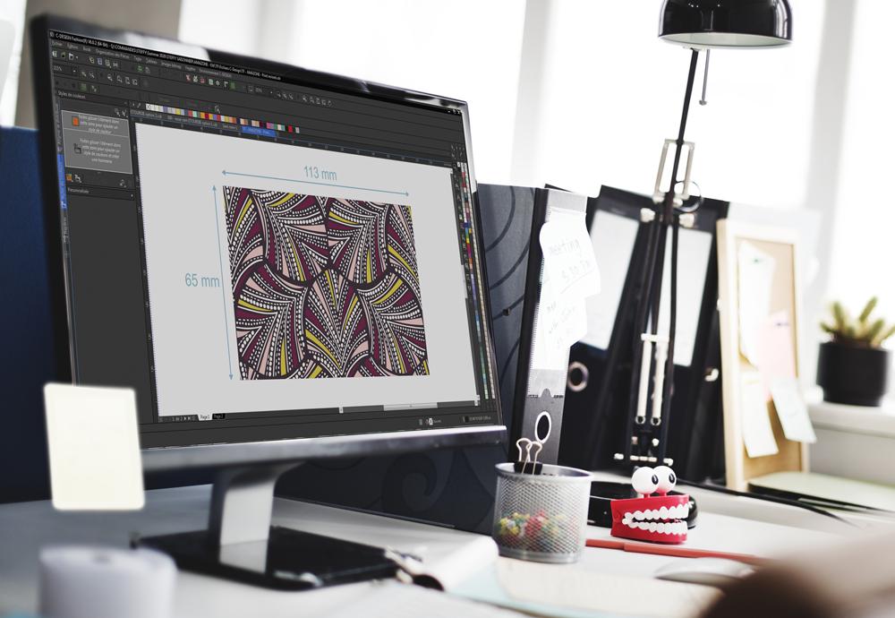 Réalisation d'imprimés en microfibre lingerie