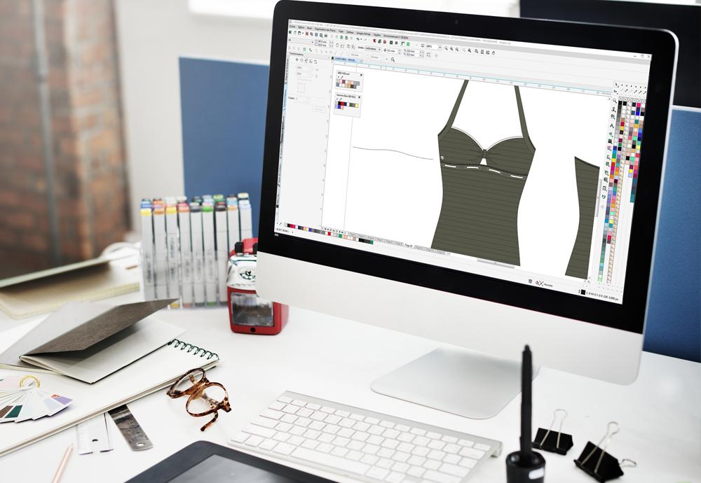 Maquette de maillot de bain C-design Lingerie